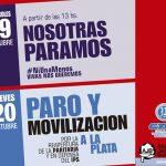 JUEVES 20  PARO Y MOVILIZACIÓN